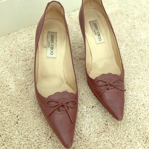 Purple laced jimmy choo pumps sz 38.5
